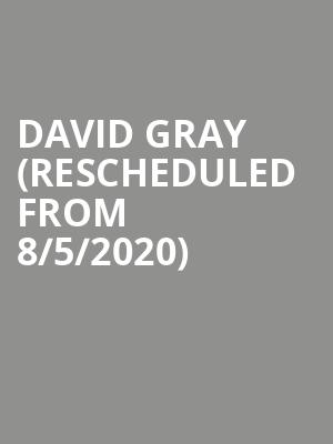 David Gray (Rescheduled from 8/5/2020) at ACL Live At Moody Theater
