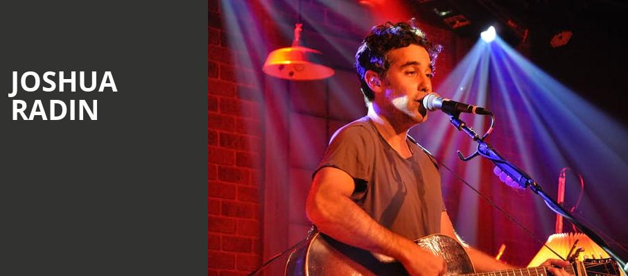Joshua Radin, One World Theatre, Austin