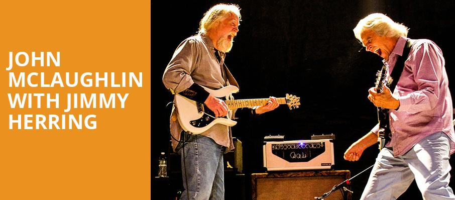 John McLaughlin with Jimmy Herring, Paramount Theatre, Austin