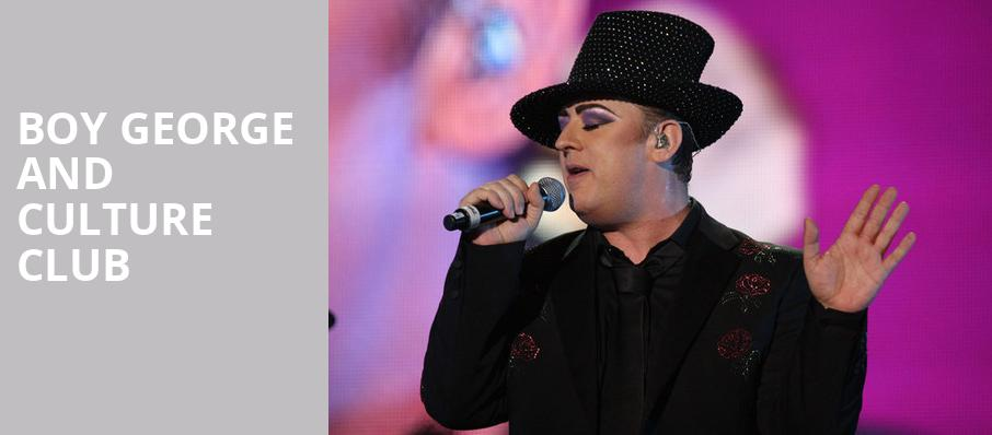 Boy George and Culture Club, ACL Live At Moody Theater, Austin