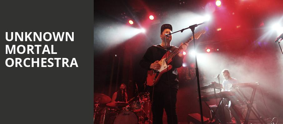 Unknown Mortal Orchestra, Stubbs BarBQ, Austin